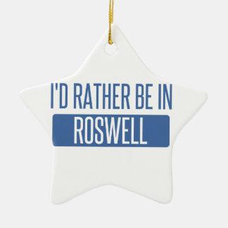 Ornamento De Cerâmica Eu preferencialmente estaria em Roswell nanômetro