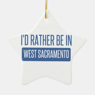 Ornamento De Cerâmica Eu preferencialmente estaria em Sacramento