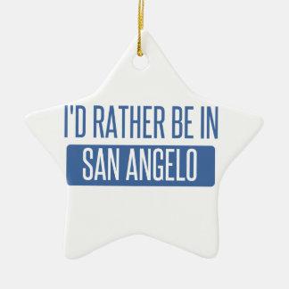 Ornamento De Cerâmica Eu preferencialmente estaria em San Angelo