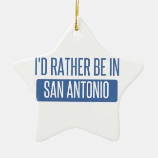 Ornamento De Cerâmica Eu preferencialmente estaria em San Antonio