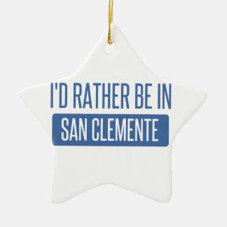 Ornamento De Cerâmica Eu preferencialmente estaria em San Clemente