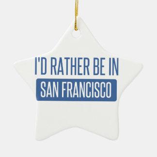 Ornamento De Cerâmica Eu preferencialmente estaria em San Francisco