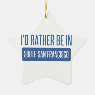 Ornamento De Cerâmica Eu preferencialmente estaria em San Francisco sul