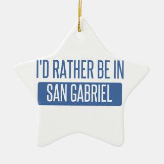 Ornamento De Cerâmica Eu preferencialmente estaria em San Gabriel