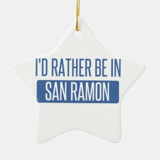 Ornamento De Cerâmica Eu preferencialmente estaria em San Ramon