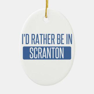 Ornamento De Cerâmica Eu preferencialmente estaria em Scranton