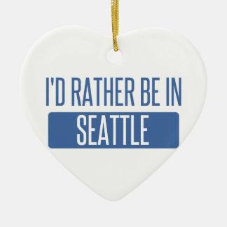Ornamento De Cerâmica Eu preferencialmente estaria em Seattle