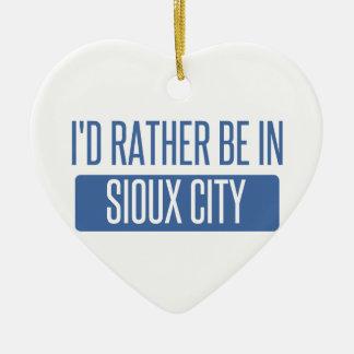 Ornamento De Cerâmica Eu preferencialmente estaria em Sioux City