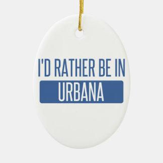 Ornamento De Cerâmica Eu preferencialmente estaria em Urbana