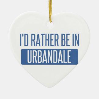 Ornamento De Cerâmica Eu preferencialmente estaria em Urbandale