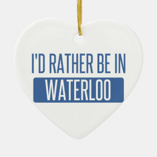 Ornamento De Cerâmica Eu preferencialmente estaria em Waterloo