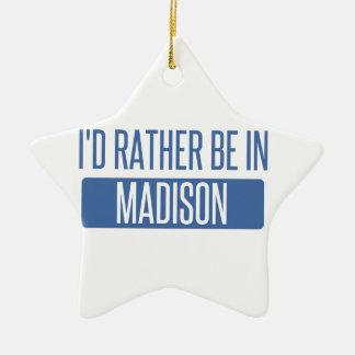 Ornamento De Cerâmica Eu preferencialmente estaria em WI de Madison