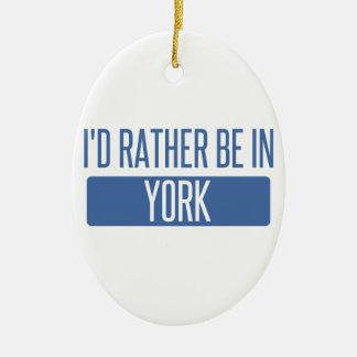 Ornamento De Cerâmica Eu preferencialmente estaria em York