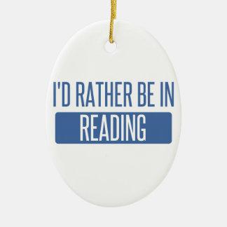 Ornamento De Cerâmica Eu preferencialmente estaria na leitura