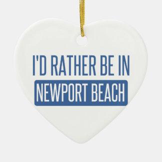 Ornamento De Cerâmica Eu preferencialmente estaria na praia de Newport