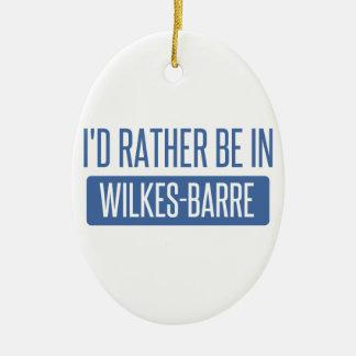 Ornamento De Cerâmica Eu preferencialmente estaria na Wilkes-Barra
