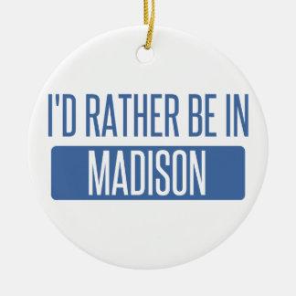 Ornamento De Cerâmica Eu preferencialmente estaria no AL de Madison