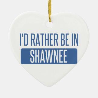 Ornamento De Cerâmica Eu preferencialmente estaria no Shawnee