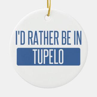 Ornamento De Cerâmica Eu preferencialmente estaria no Tupelo