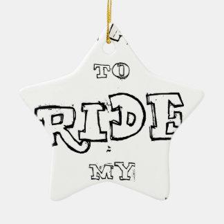 Ornamento De Cerâmica Eu quero montar minha bicicleta