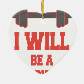 Ornamento De Cerâmica Eu serei um Bodybuilder