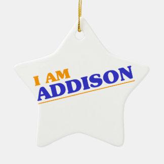 Ornamento De Cerâmica Eu sou Addison