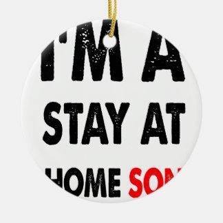 Ornamento De Cerâmica Eu sou uma estada em casa Son.png