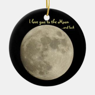 Ornamento De Cerâmica Eu te amo à lua… e traseiro