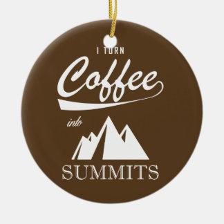 Ornamento De Cerâmica Eu transformo o café em cimeiras