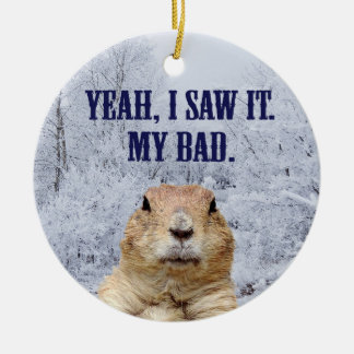 Ornamento De Cerâmica Eu vi-o dia de Groundhog