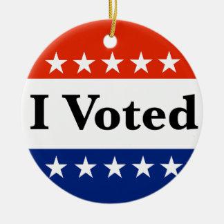 Ornamento De Cerâmica Eu votei 2018 eleições
