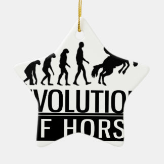 Ornamento De Cerâmica evolução do cavalo