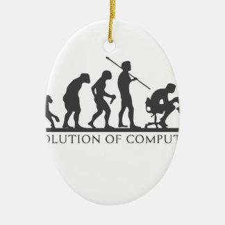 Ornamento De Cerâmica Evolução do COMPUTADOR