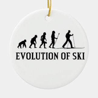 Ornamento De Cerâmica Evolução do esqui