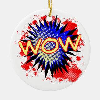 Ornamento De Cerâmica Exclamação cómica do wow