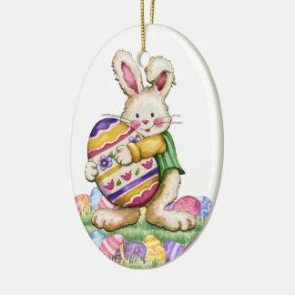 Ornamento De Cerâmica Exclusive do coelhinho da Páscoa