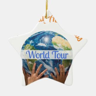 Ornamento De Cerâmica Excursão do mundo