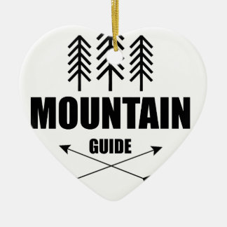 Ornamento De Cerâmica Excursão e aventura, guia da montanha
