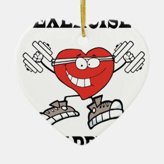 Ornamento De Cerâmica exercício heart2