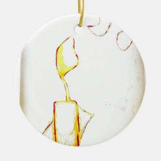 Ornamento De Cerâmica Êxodo sereno