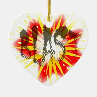 Ornamento De Cerâmica Explosão cómica