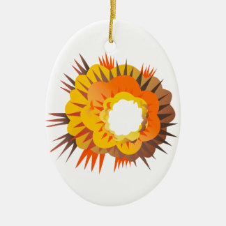 Ornamento De Cerâmica Explosão da bomba retro