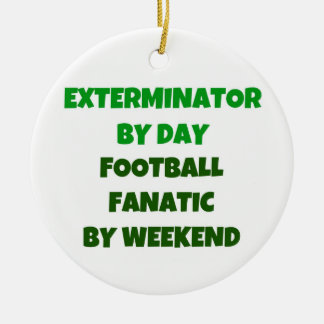 Ornamento De Cerâmica Exterminator pelo fanático do futebol do dia em o