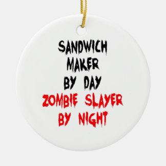 Ornamento De Cerâmica Fabricante do sanduíche do assassino do zombi