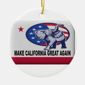 Ornamento De Cerâmica Faça o excelente de Califórnia outra vez