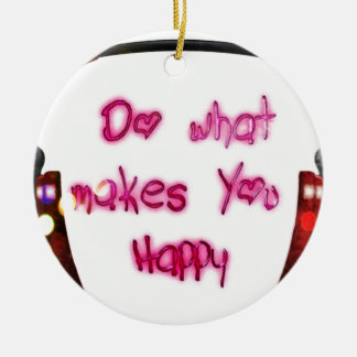 Ornamento De Cerâmica faça o que faz u feliz