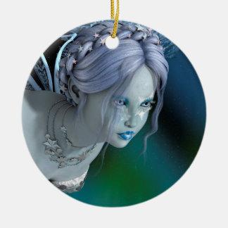 Ornamento De Cerâmica Fada do inverno