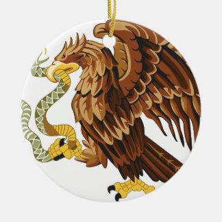 Ornamento De Cerâmica Falcão e cobra