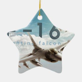 Ornamento De Cerâmica Falcão F-16 de combate