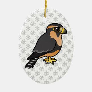 Ornamento De Cerâmica Falcão peruano de Birdorable Aplomado